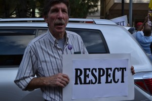 Adjunct professors rally for respect | Photo by Alene Bouranova