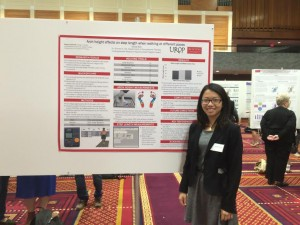 Nicole Wo presents her research on walking based on foot arch heights | Photo courtesy of Andrea Van Grisven