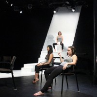The cast of The Vagina Monologues on stage. |Photo by Maddie Suvunrungsi
