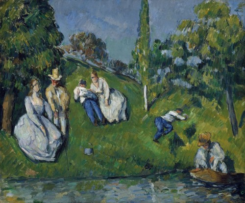 """The Pond"" by Paul Cézanne is on display at the MFA 
