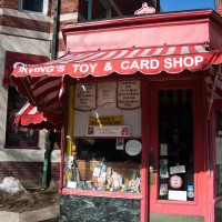 Irving's Toy and Card Shop, in the same little building on Harvard St. in Brookline since 1931. | Photo by Kylie Obermeier.