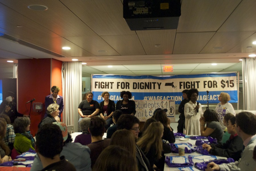 Fight for 15 Rally at Northeastern University