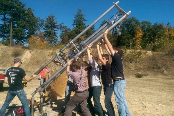 BURPG setting up to launch their MkII rocket last year. | Photo courtesy of burocket.org.
