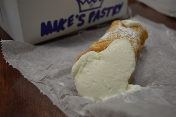 Coming in last, the famous Mike's Pastry. Located at 300 Hanover St., this little Italy staple did not live up to the hype.