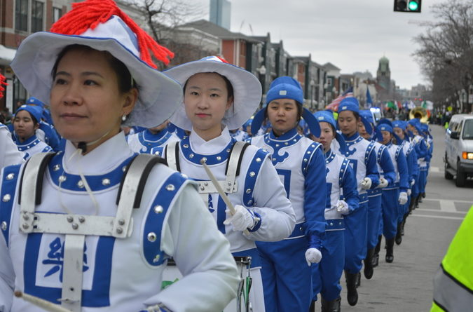 A group advocating the practice of Falun Dafa also took part in the parade.