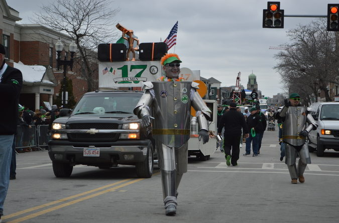 The tin men and the sheet metal workers local 17 wished the crowd a happy St. Patrick's Day.